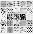 hand drawn textures made with ink isolated vector image vector image