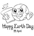 happy earth day design hand draw vector image vector image