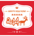 Happy new year 2014 card19 vector image