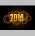 happy new year 2019 celebration fireworks vector image