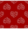 hearts low poly seamless vector image vector image