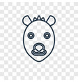hyena concept linear icon isolated on transparent vector image