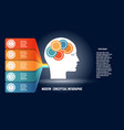 infographic with gears in men head and colorfull vector image vector image
