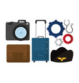 job supplies icons vector image vector image