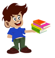 kid and books vector image vector image