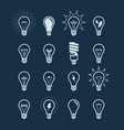 light bulb icon set lightbulb electricity vector image