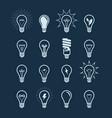 light bulb icon set lightbulb electricity vector image vector image