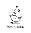 magic bird logo vector image vector image