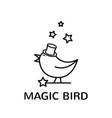 magic bird logo vector image