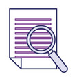 magnifying glass with document vector image