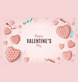 minimalism happy valentines day background with vector image vector image