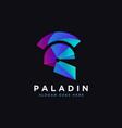 modern minimalist paladin logo spartan logo vector image vector image