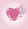 mothers day and wedding valentine card design vector image