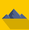 mountain peak icon flat style vector image vector image