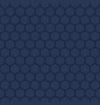 navy blue hexagon geometric pattern vector image