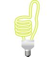 ok hand sign energy saving bulb vector image vector image
