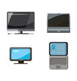 pc and laptop icon set cartoon style vector image vector image