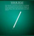 pencil with eraser icon on green background vector image