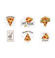 pizzeria logotypes set collection of different vector image vector image