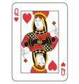 Queen of hearts vector image vector image