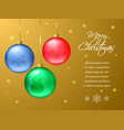rectangular christmas or new year card realistic vector image vector image