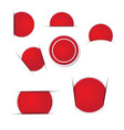 red circle stickers on white background vector image