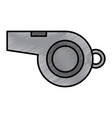 referee whistle equipment object element vector image