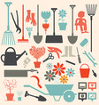 Retro Gardening Icons Set vector image vector image