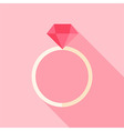 Ring with diamond vector image