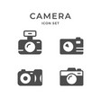 set icons camera and photography concept vector image