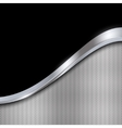 Silver and black metallic background vector image vector image