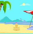 summer beach background day time empty landscape vector image vector image