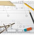 technical blueprint of mechanism vector image
