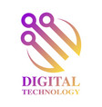 technology biotechnology hi tech icon and symbol vector image vector image