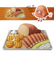 texas bbq medley icon of vector image