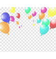 Transparent colorful balloons vector image vector image
