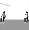 Traveling with airplane vector image vector image