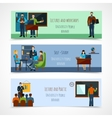 University People Banner Set vector image vector image