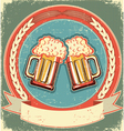 vintage beer label vector image