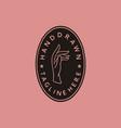 vintage emblem badge hand drawn elegant female vector image