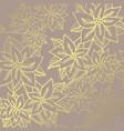 winter golden pattern vector image