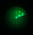 realistic radar in searching vector image