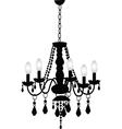 Decorative Chandelier vector image