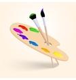 Art color palette vector image