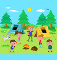 camping people vector image