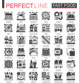 fast food classic black mini concept symbols vector image