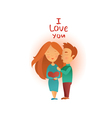 Couple in love 02 vector image