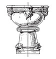 17th century stoup vintage vector image vector image