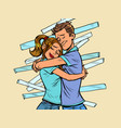 a couple reconciliation husband and wife hug vector image vector image