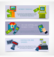 Atm Payment Banner Set vector image vector image